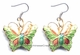Chinese Cloisonne Earrings (Pair) - Butterfly #50