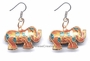 Chinese Cloisonne Earrings (pair) - Elephant #61