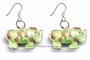 Chinese Cloisonne Earrings (pair) - Elephant #62