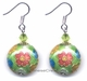 Chinese Cloisonne Earrings (Pair) - Flower #52