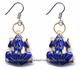 Chinese Cloisonne Earrings (Pair) - Frog #44