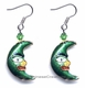 Chinese Cloisonne Earrings (pair) - Moon #43