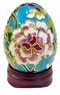 Chinese Cloisonne Egg - Flowers #17