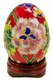 Chinese Cloisonne Egg - Flowers #18