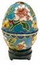 Chinese Cloisonne Egg - Flowers #21