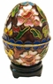 Chinese Cloisonne Egg - Flowers #22