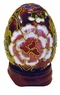 Chinese Cloisonne Egg - Flowers #4