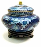 Chinese Cloisonne Jar - Twin Dragons #10