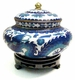 Chinese Cloisonne Jar - Twin Dragons #8