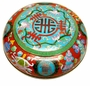 Large Chinese Cloisonne Box  - Good Fortune & Longevity Symbols  #4