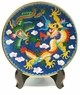 Chinese Cloisonne Plate - Dragon & Phoenix #2