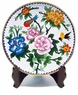Chinese Cloisonne Plate - Peony & Birds #3
