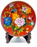 Chinese Cloisonne Plate - Peony & Birds #5