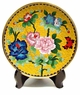 Chinese Cloisonne Plate - Peony & Butterfly #11