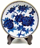 Chinese Cloisonne Plate - Peony & Butterfly #9