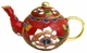 Chinese Cloisonne Teapot - Flowers #15