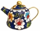 Chinese Cloisonne Teapot - Flowers #17