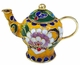 Chinese Cloisonne Teapot - Flowers #21