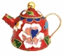 Chinese Cloisonne Teapot - Flowers #23