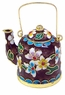 Chinese Cloisonne Teapot - Flowers #26