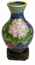 Miniature Chinese Cloisonne Vase - Wealth Flowers #24