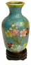 Miniature Chinese Cloisonne Vase - Flowers