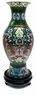 Chinese Cloisonne Vase - Twin Dragons #2