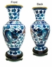 Chinese Cloisonne Vase - Twin Dragons