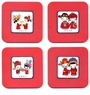 Chinese Coasters - Bride & Groom (Set of 4) #12