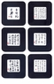 Chinese Coasters - Chinese Calligraphy Symbols (Set of 6) #10