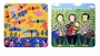 Chinese Coasters - Chinese Folk / Peasant Paintings (Set of 2)