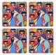 Chinese Coasters - Chinese Folk / Peasant Paintings (Set of 4)