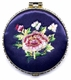 Chinese Compact Mirror - Embroidered Flowers #14
