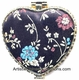 Chinese Compact Mirror - Embroidered Flowers #21