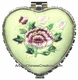 Chinese Compact Mirror - Embroidered Flowers #30