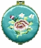 Chinese Compact Mirror - Embroidered Flowers  #9
