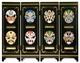 Chinese Folding Mini Screen - Chinese Opera Masks #8