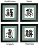 Chinese Framed Art - Chinese Calligraphy Symbols #53
