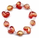 Chinese Glass Bead Bracelet - Heart  #128