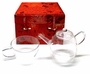 Chinese Glass Teapot & Tea Cup Gift Set - Red Cherry #1