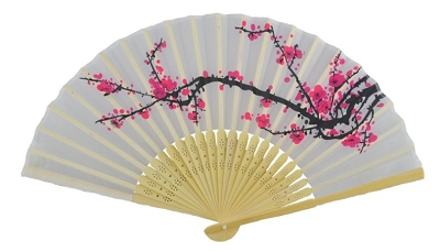 chinese hand fan cherry blossom chinese silk fan traditional