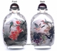 Chinese Inside Painted Snuff Bottle - Birds, Grapes & Lotus #59