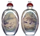 Chinese Inside Painted Snuff Bottle - Ducks #43