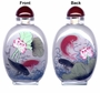 Chinese Inside Painted Snuff Bottle - Fish & Lotus #27
