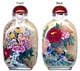 Chinese Inside Painted Snuff Bottle - Happy Couple / Birds & Flowers #34