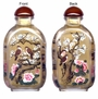 Chinese Inside Painted Snuff Bottle - Happy Couple / Birds & Flowers #38