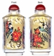 Chinese Inside Painted Snuff Bottle - Magpies / Happy Couple #28