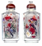Chinese Inside Painted Snuff Bottle - Magpies & Maple Leaves #61