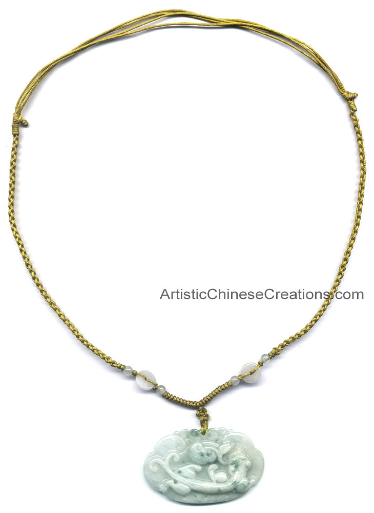 in jade item inlaid chalcedony women necklace pendant fashion from buddha special green jewelry high silver pendants grade laughing natural