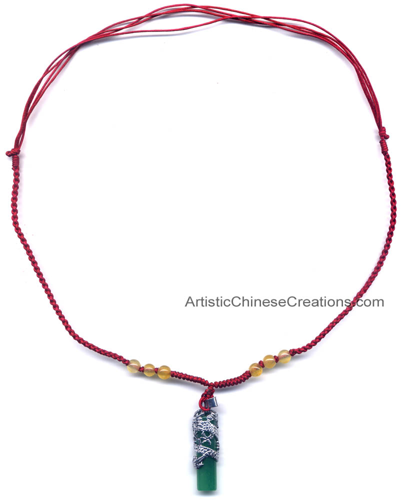 Chinese necklace chinese dragon jade pendant chinese jewelry click to enlarge chinese necklace chinese dragon jade aloadofball Images